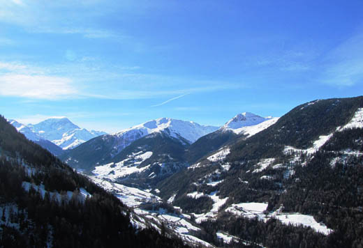 Excellent balcony views from Montagne Alternative Switzerland CREDIT Harriet Green