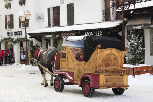 megeve France horse drawn carriage