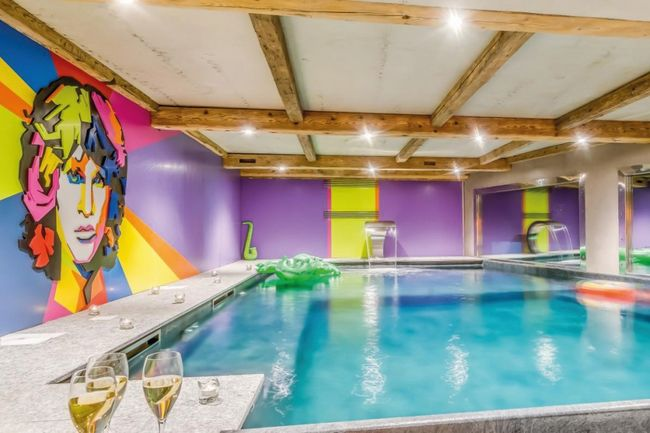 The funky pool area of the Chalet Rock and Love, Tignes, France.jpg
