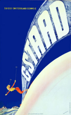 ski poster gstaad